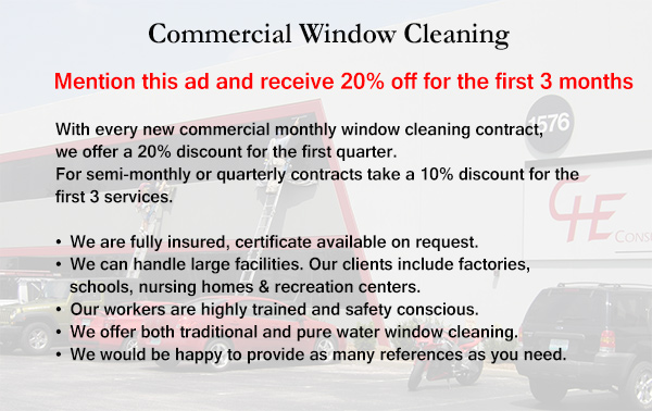 Commercial Window and Gutter Cleaning Discount