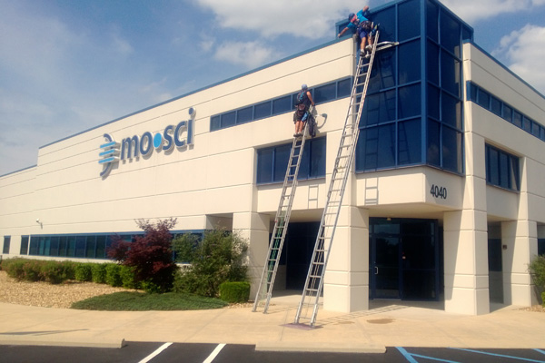 Commercial window washing in Rolla, MO.
