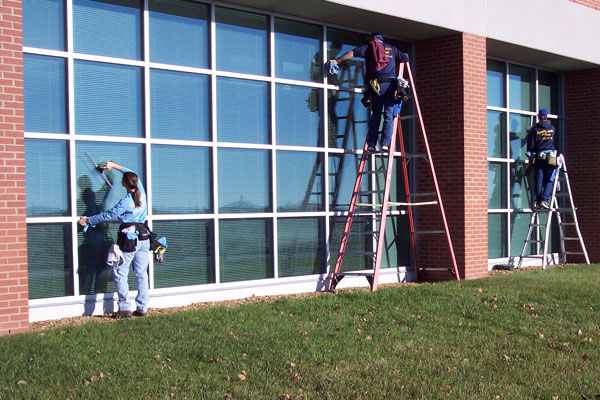 Commercial window cleaning in Washington, MO.